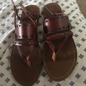 Adorable leather sandals!!! EUC. Worn 1x.